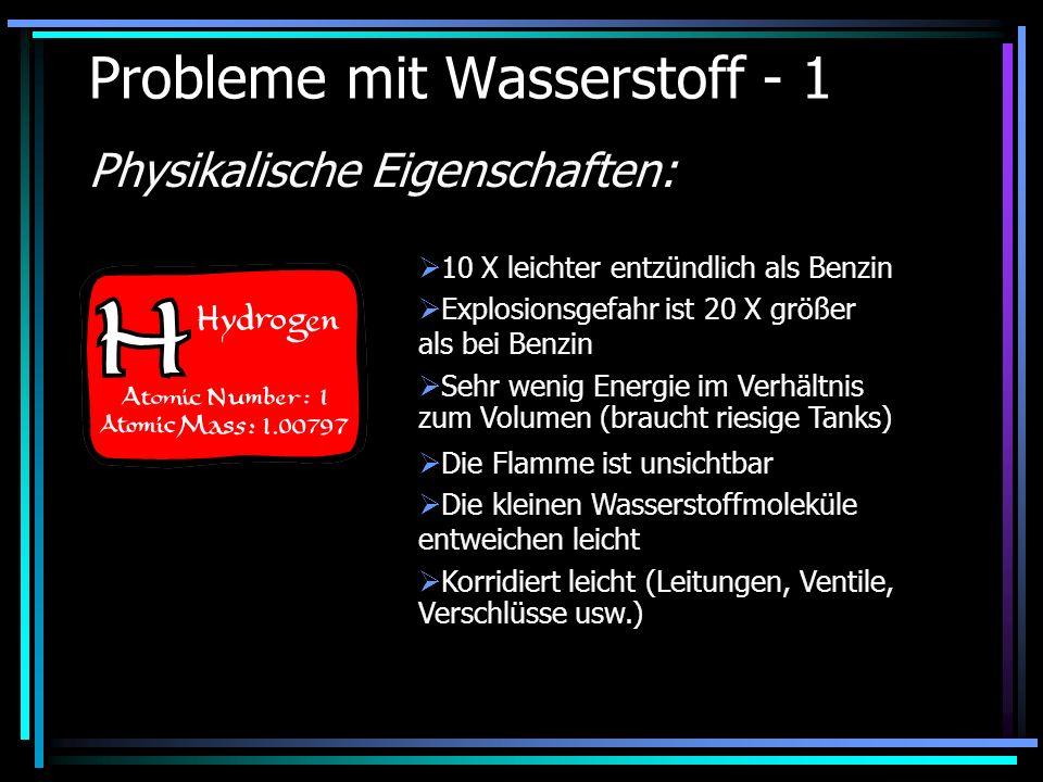 Probleme mit Wasserstoff - 1