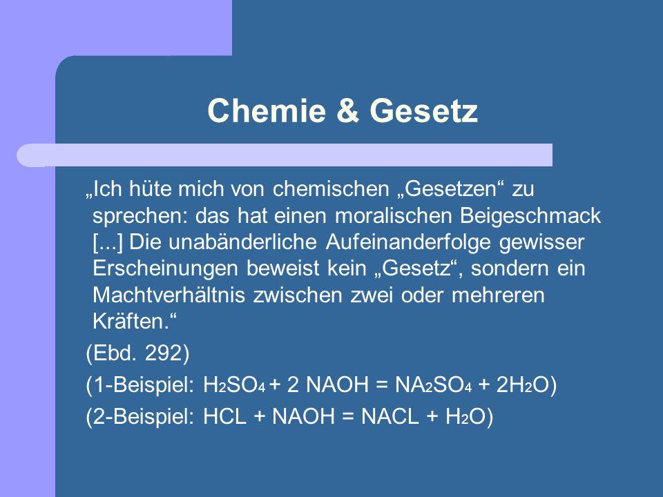 Chemie & Gesetz
