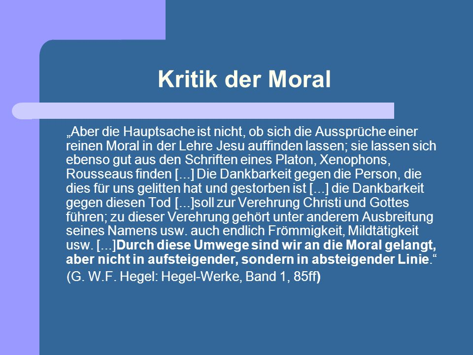Kritik der Moral
