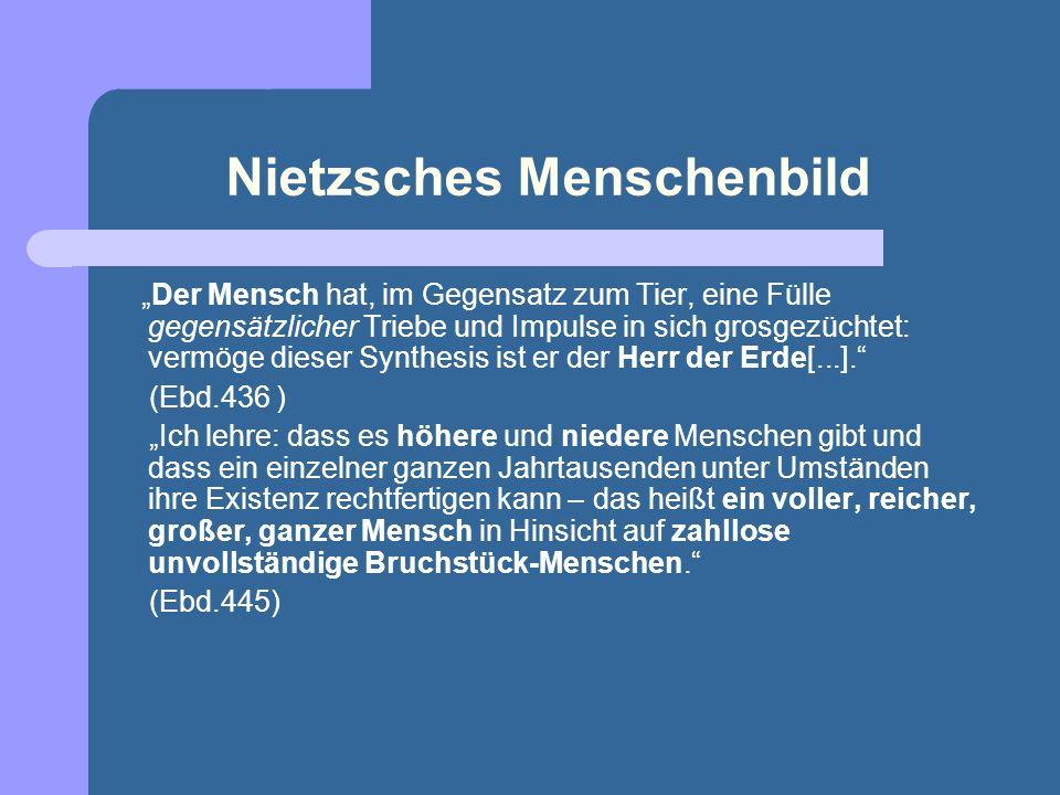 Nietzsches Menschenbild