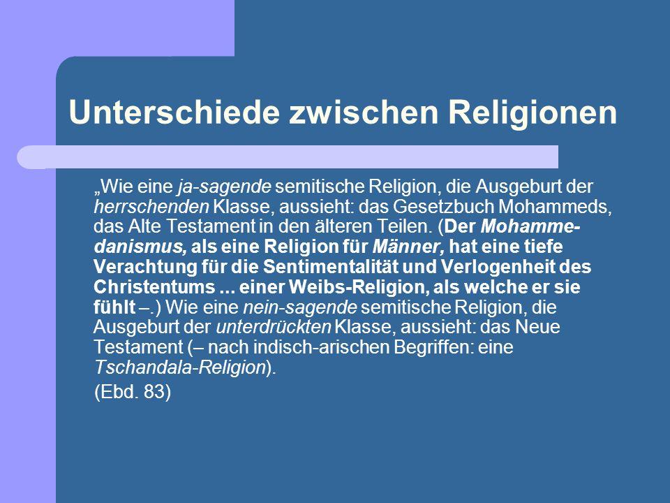 Unterschiede zwischen Religionen