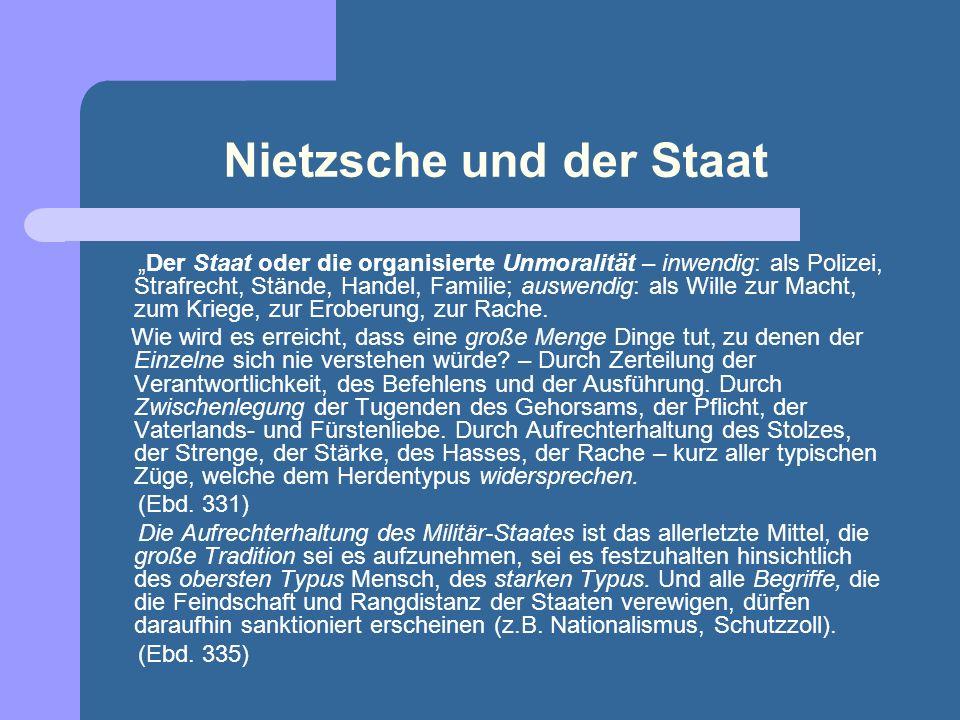 Nietzsche und der Staat
