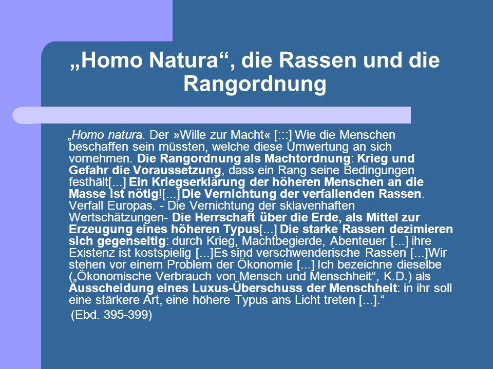 """""""Homo Natura , die Rassen und die Rangordnung"""