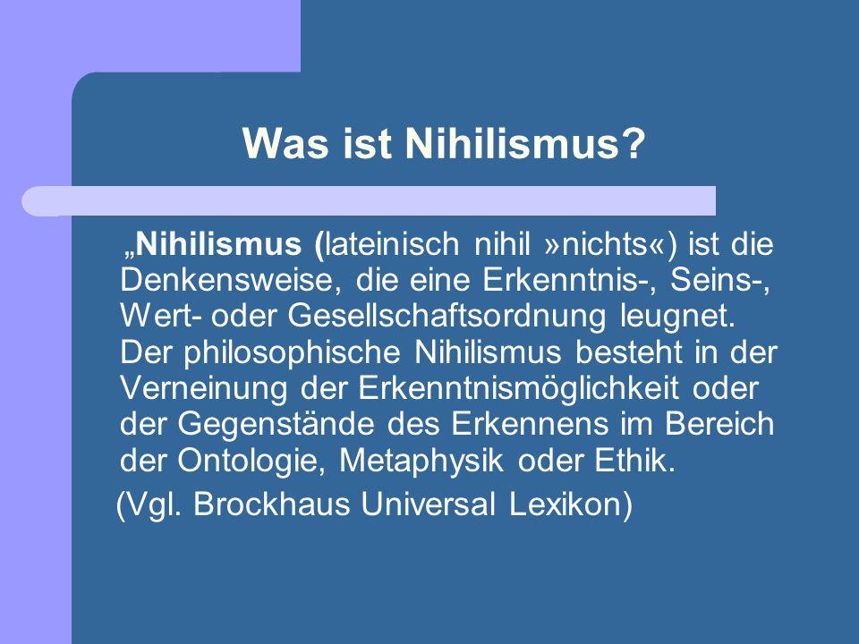 Was ist Nihilismus