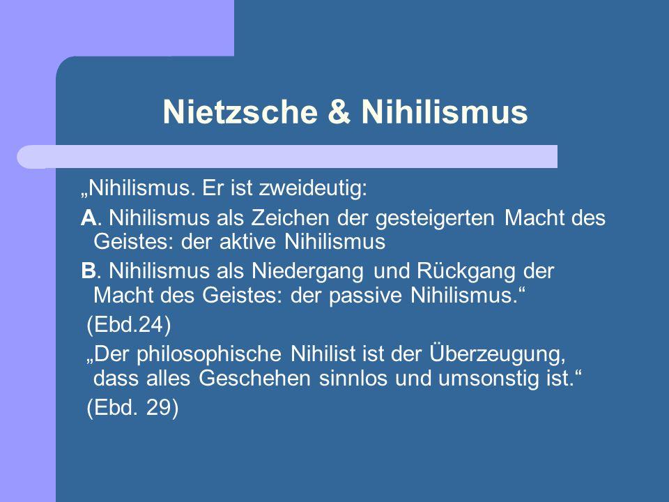 Nietzsche & Nihilismus