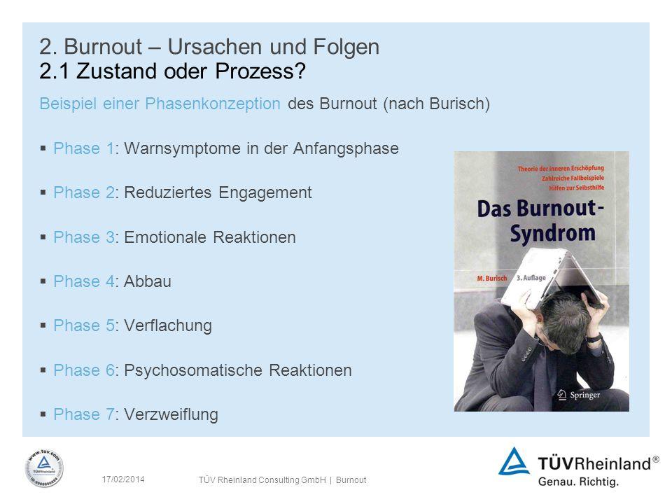 2. Burnout – Ursachen und Folgen 2.1 Zustand oder Prozess