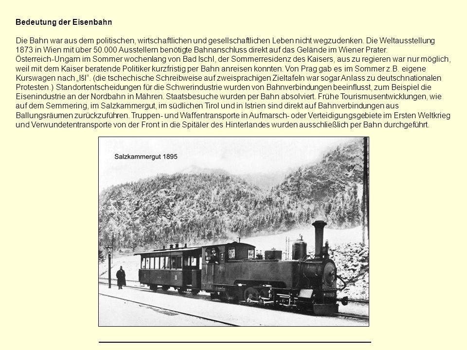 Bedeutung der Eisenbahn