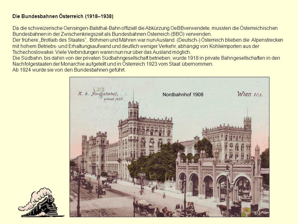 Die Bundesbahnen Österreich (1918–1938)
