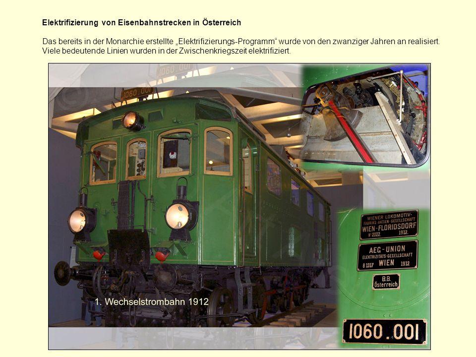 Elektrifizierung von Eisenbahnstrecken in Österreich