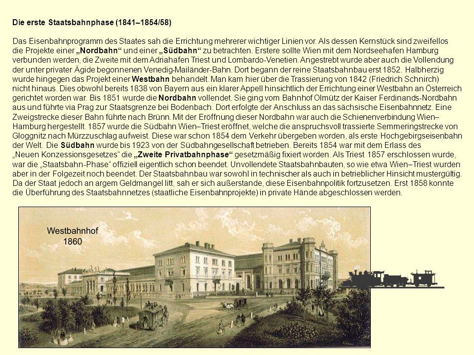Die erste Staatsbahnphase (1841–1854/58)