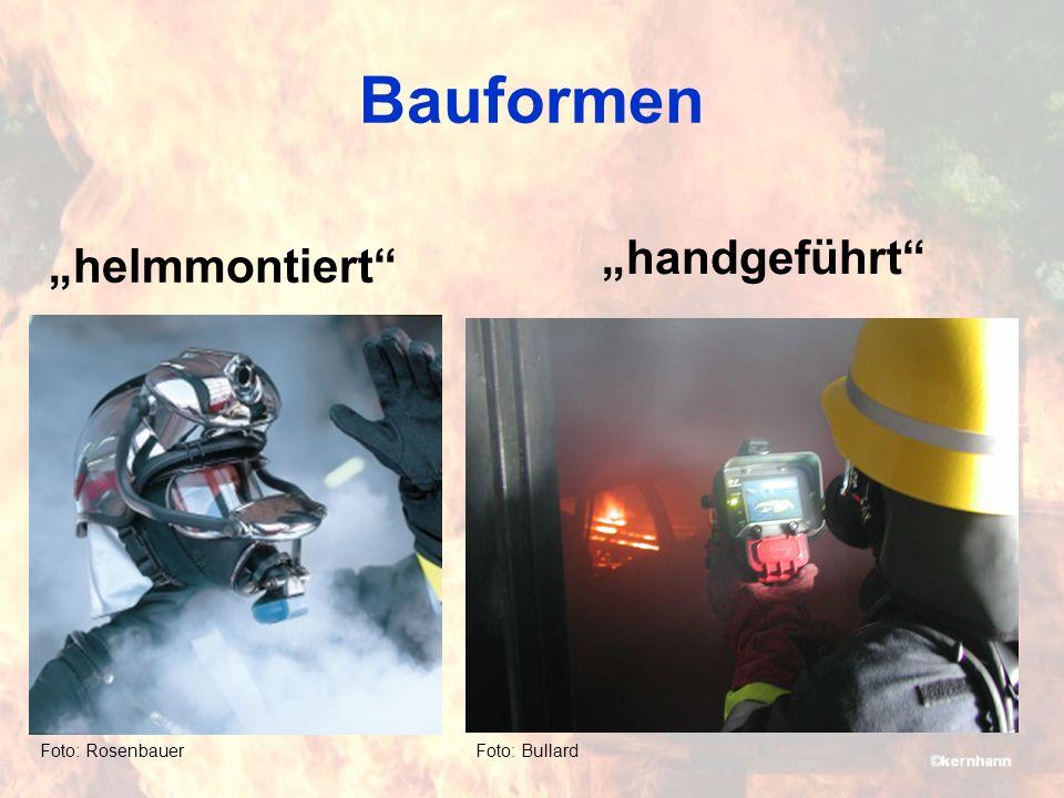 "Bauformen ""handgeführt ""helmmontiert Foto: Bullard Foto: Rosenbauer"