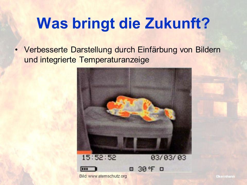 Was bringt die Zukunft Verbesserte Darstellung durch Einfärbung von Bildern und integrierte Temperaturanzeige.