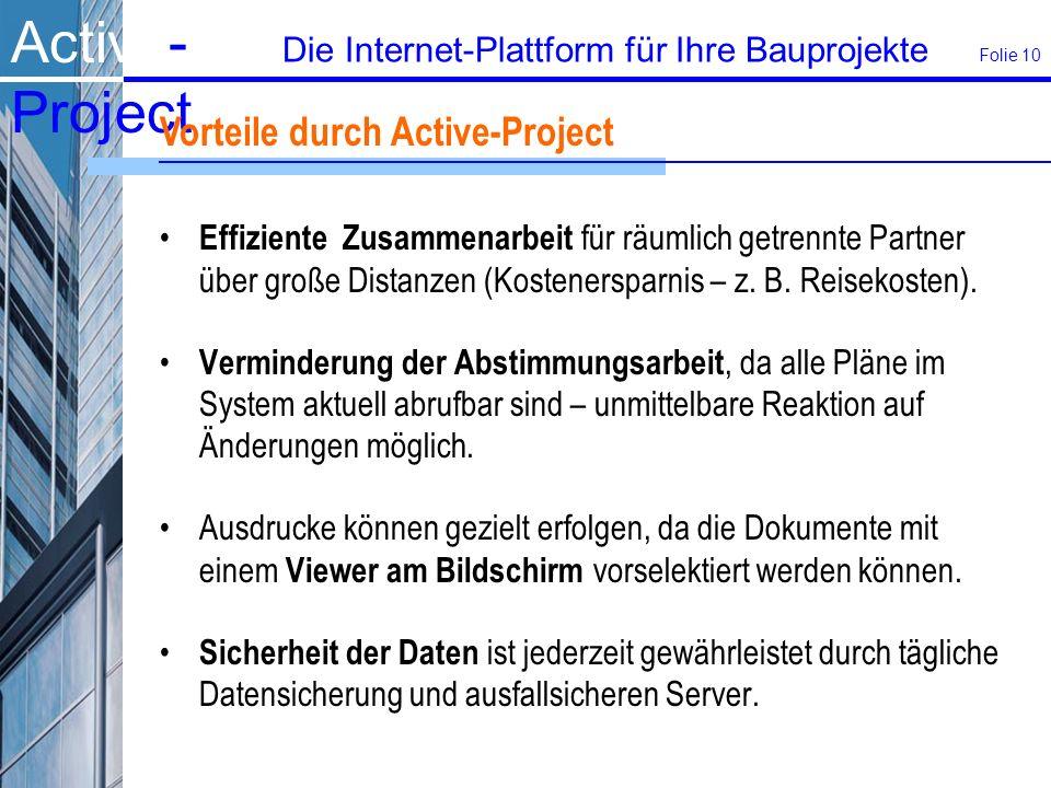 Vorteile durch Active-Project