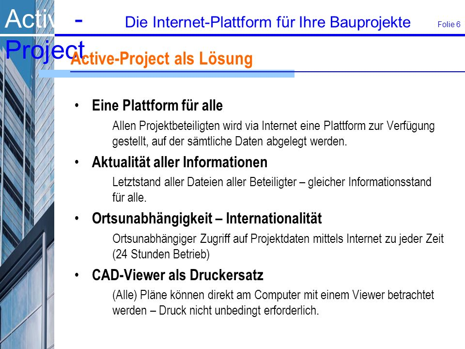 Active-Project als Lösung