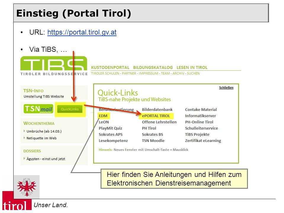Einstieg (Portal Tirol)
