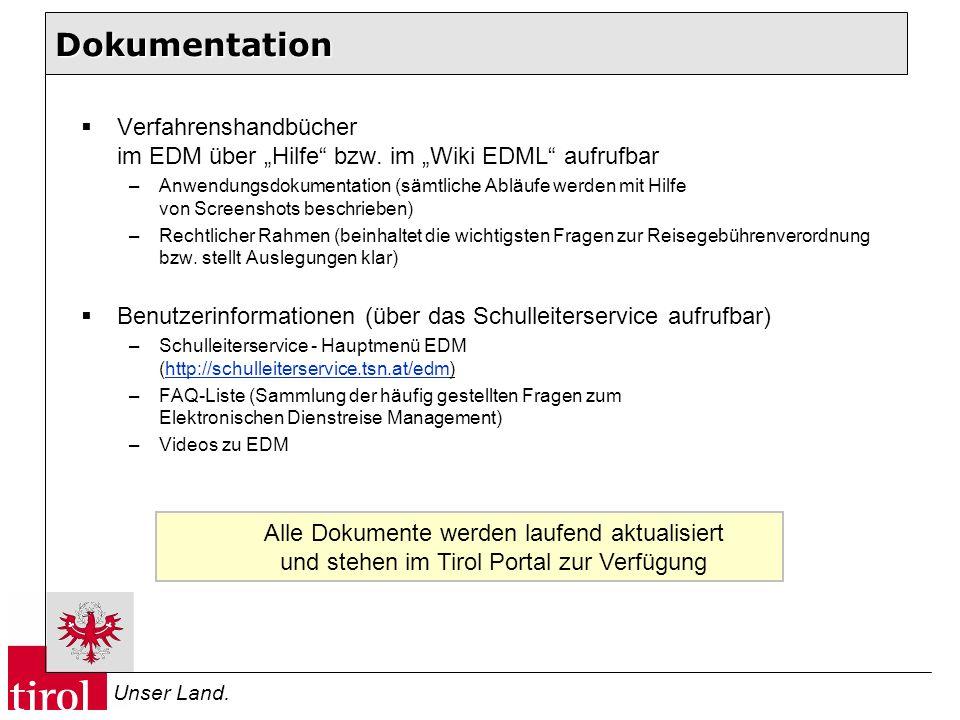 """Dokumentation Verfahrenshandbücher im EDM über """"Hilfe bzw. im """"Wiki EDML aufrufbar."""
