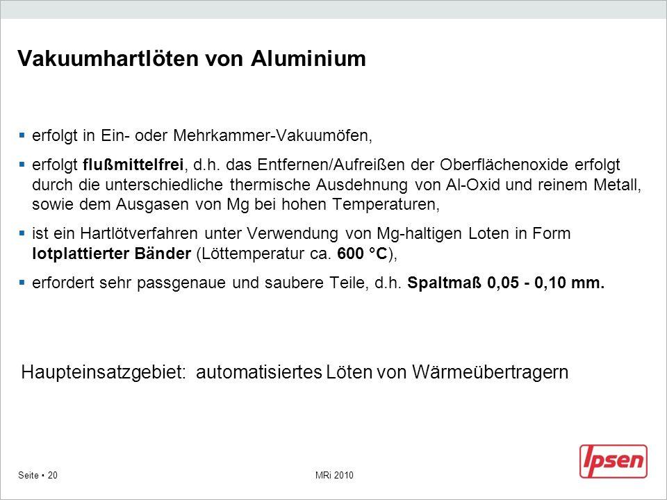 Vakuumhartlöten von Aluminium