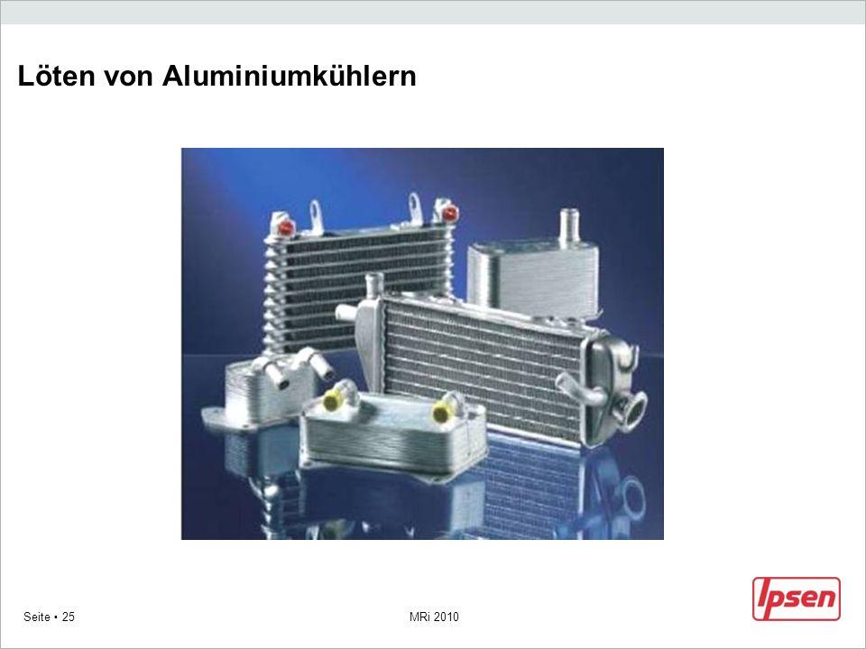 Löten von Aluminiumkühlern