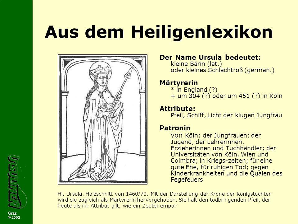 Aus dem Heiligenlexikon