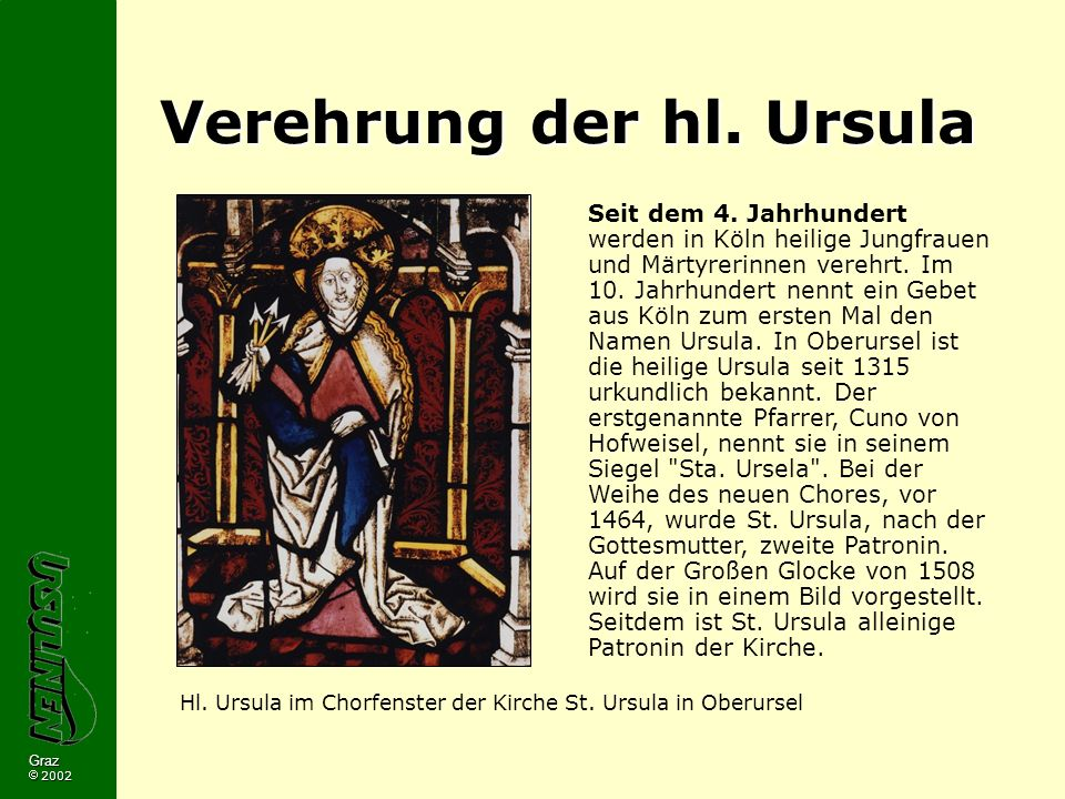 Verehrung der hl. Ursula