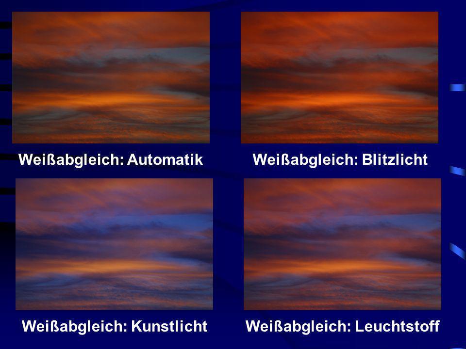 Weißabgleich: Automatik Weißabgleich: Blitzlicht