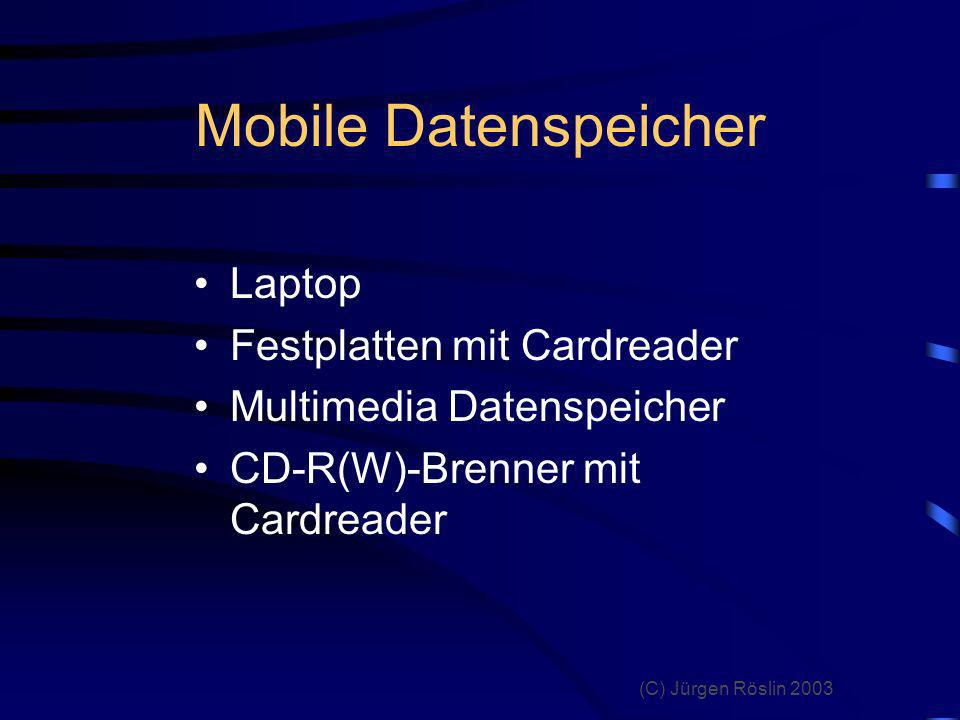 Mobile Datenspeicher Laptop Festplatten mit Cardreader
