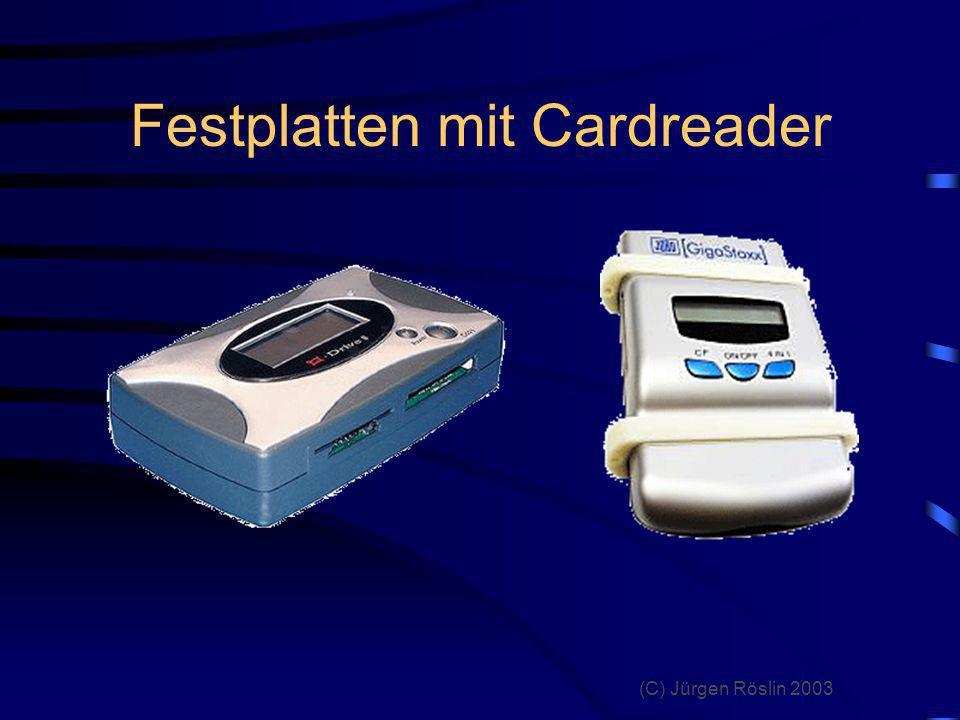 Festplatten mit Cardreader