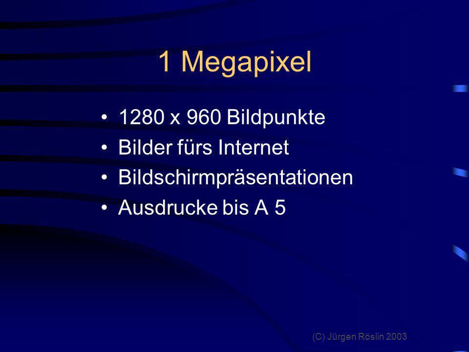 1 Megapixel 1280 x 960 Bildpunkte Bilder fürs Internet