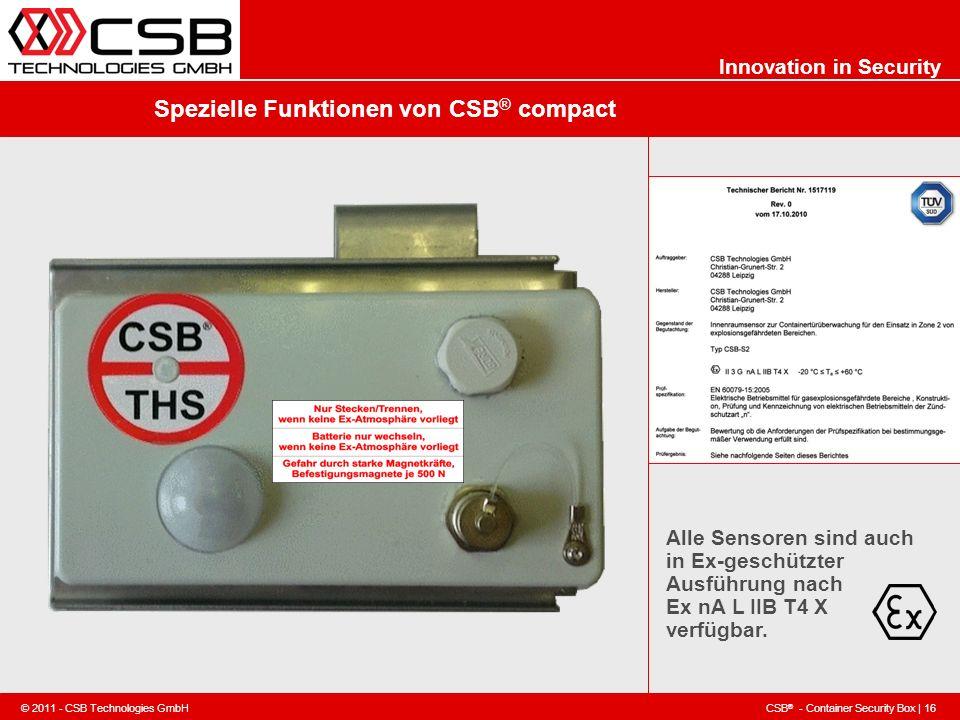 Spezielle Funktionen von CSB® compact