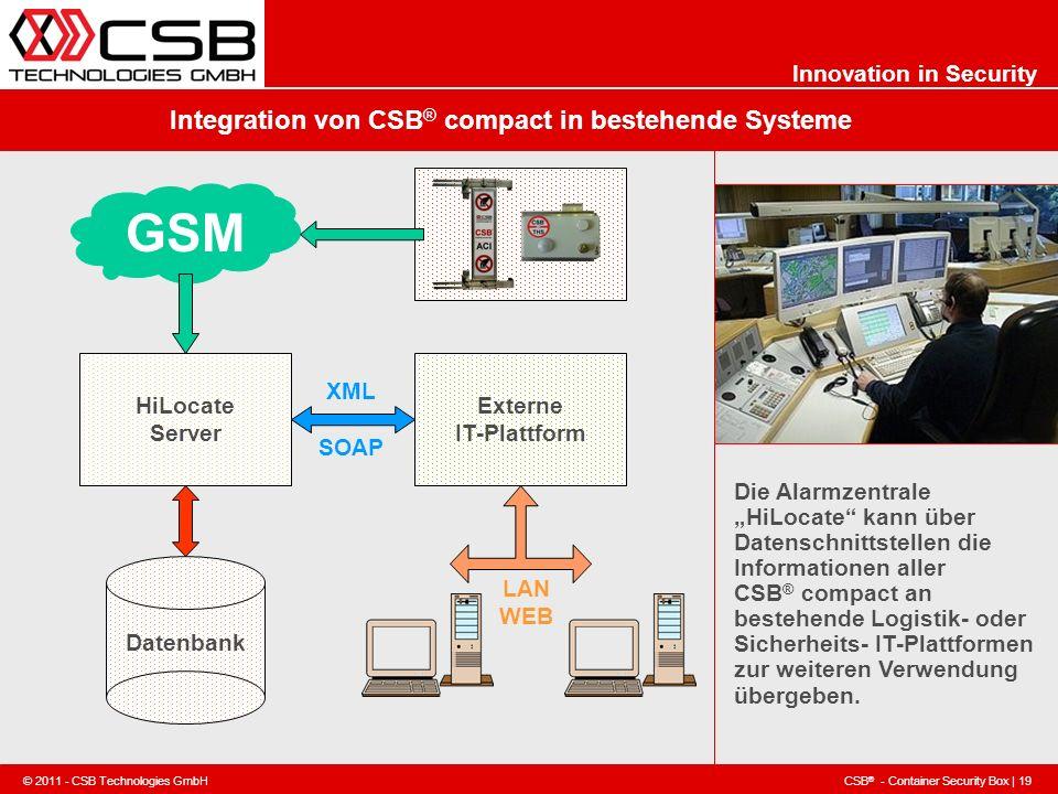 Integration von CSB® compact in bestehende Systeme