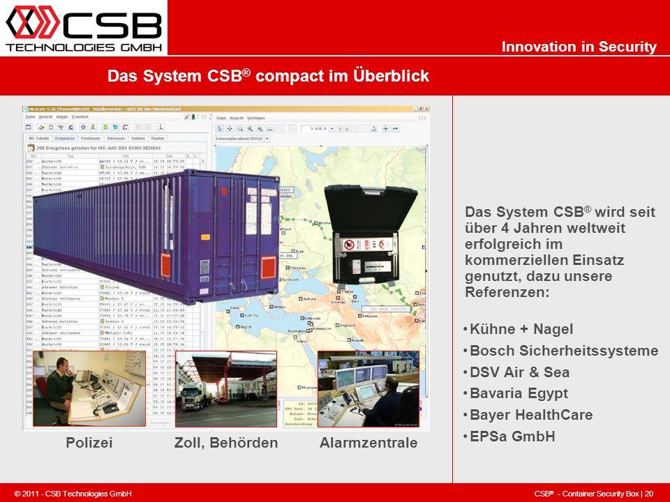 Das System CSB® compact im Überblick