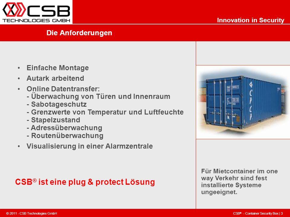 CSB® ist eine plug & protect Lösung