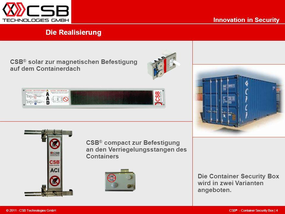 Die Realisierung CSB® solar zur magnetischen Befestigung auf dem Containerdach.