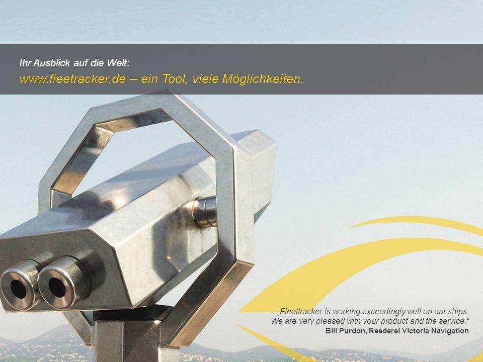 www.fleetracker.de – ein Tool, viele Möglichkeiten.
