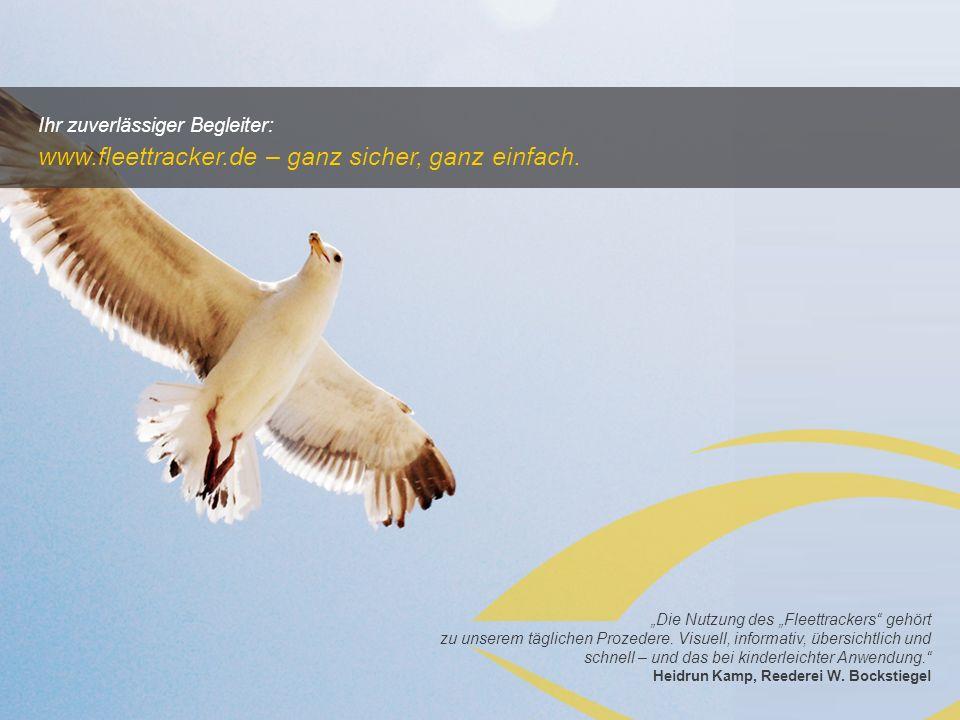 www.fleettracker.de – ganz sicher, ganz einfach.
