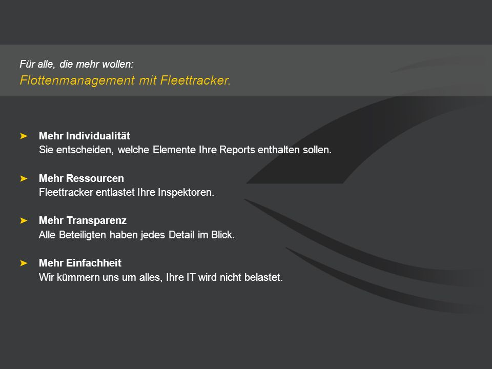 Flottenmanagement mit Fleettracker.
