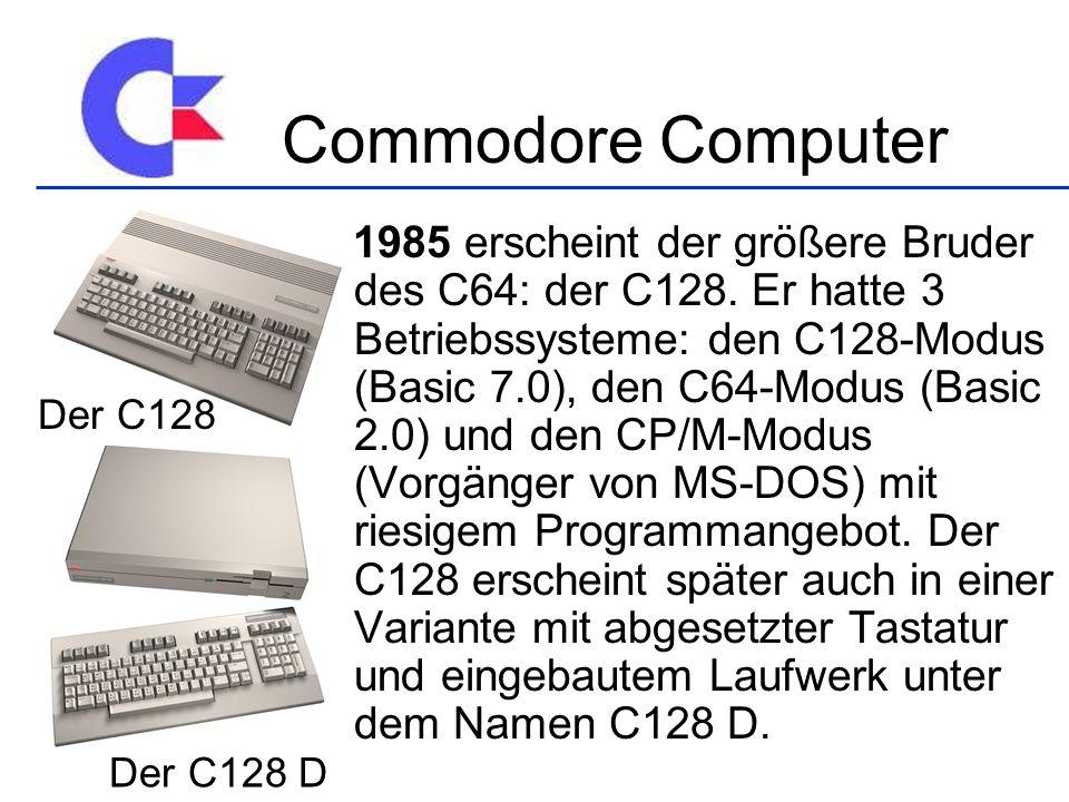 Commodore Computer Der C128 Der C128 D