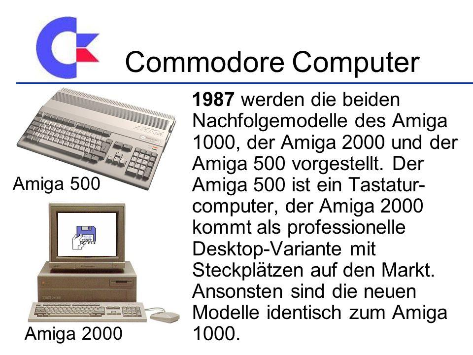 Commodore Computer Amiga 500 Amiga 2000