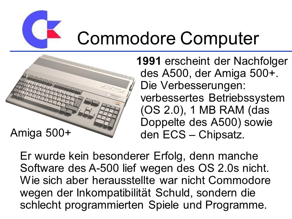 Commodore Computer Amiga 500+