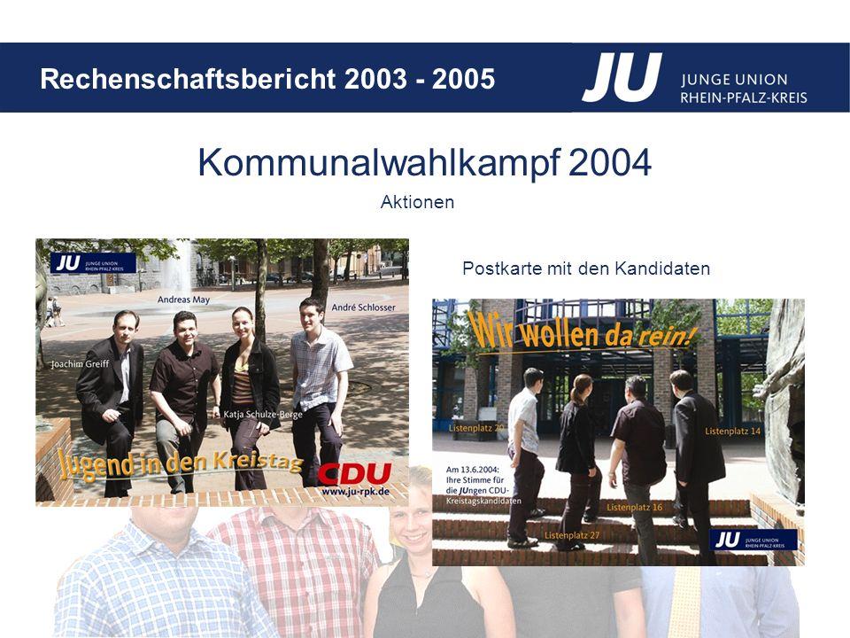 Kommunalwahlkampf 2004 Aktionen Postkarte mit den Kandidaten