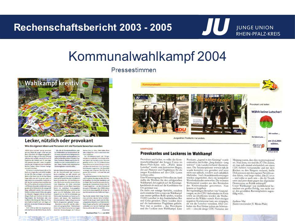 Kommunalwahlkampf 2004 Pressestimmen