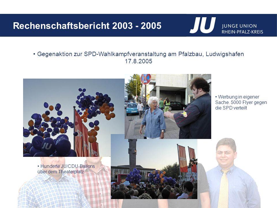 Gegenaktion zur SPD-Wahlkampfveranstaltung am Pfalzbau, Ludwigshafen 17.8.2005