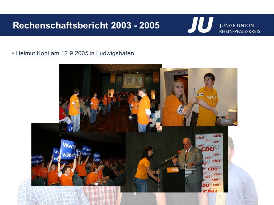 Helmut Kohl am 12.9.2005 in Ludwigshafen