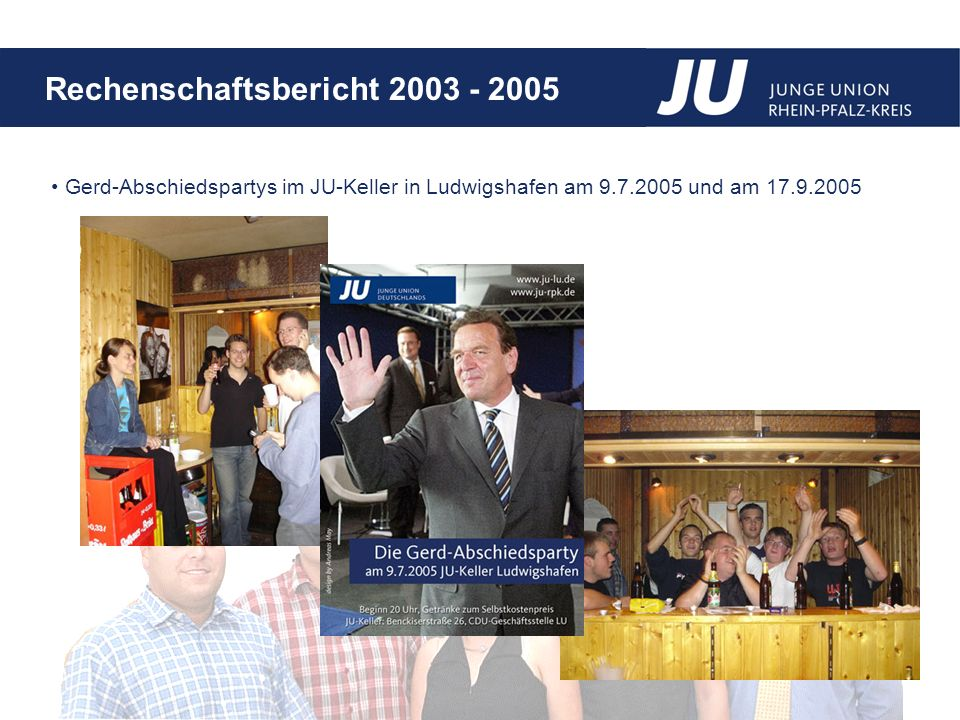 Gerd-Abschiedspartys im JU-Keller in Ludwigshafen am 9. 7