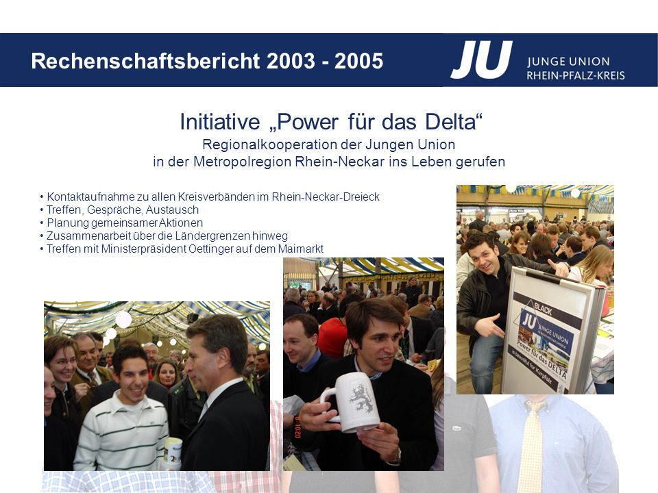 "Initiative ""Power für das Delta Regionalkooperation der Jungen Union"