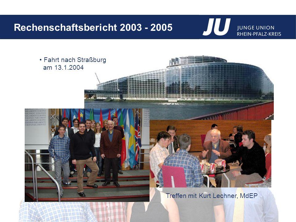 Fahrt nach Straßburg am 13.1.2004 Treffen mit Kurt Lechner, MdEP