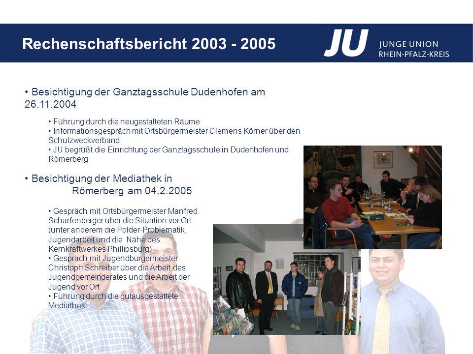 Besichtigung der Ganztagsschule Dudenhofen am 26.11.2004