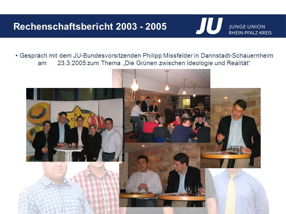 """Gespräch mit dem JU-Bundesvorsitzenden Philipp Missfelder in Dannstadt-Schauernheim am 23.3.2005 zum Thema """"Die Grünen zwischen Ideologie und Realität"""