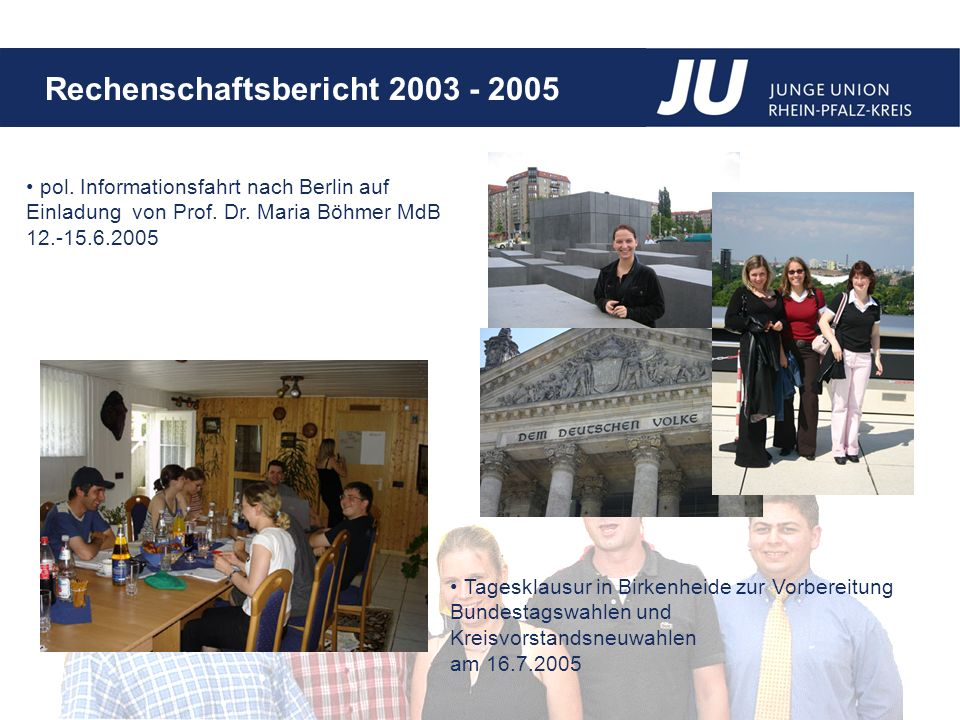 pol. Informationsfahrt nach Berlin auf Einladung von Prof. Dr