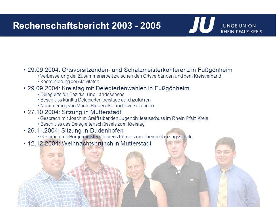 29.09.2004: Ortsvorsitzenden- und Schatzmeisterkonferenz in Fußgönheim